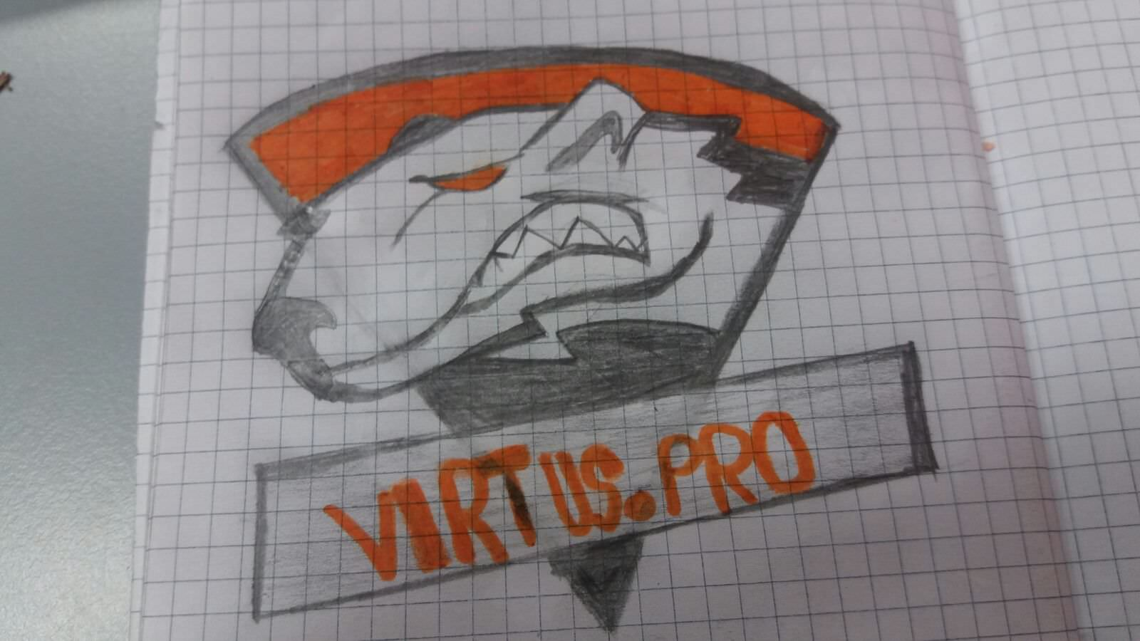 my first time drawing a Virtus.Pro logo I did sometime last.