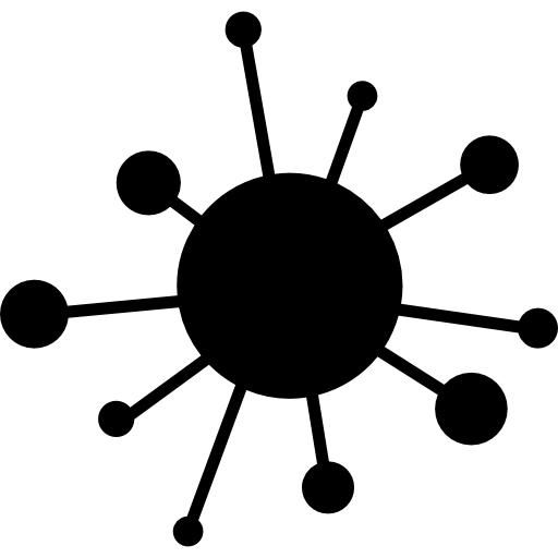 Computer virus Icons.