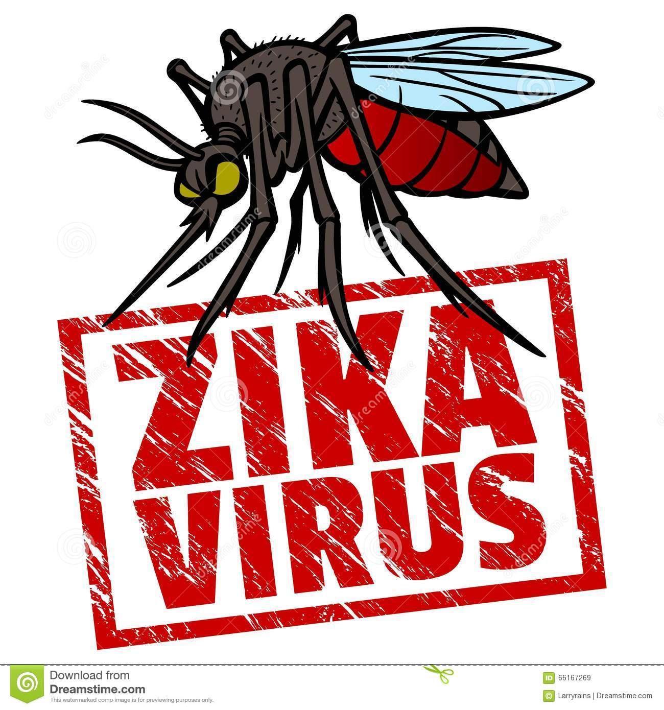 Zika virus clipart.