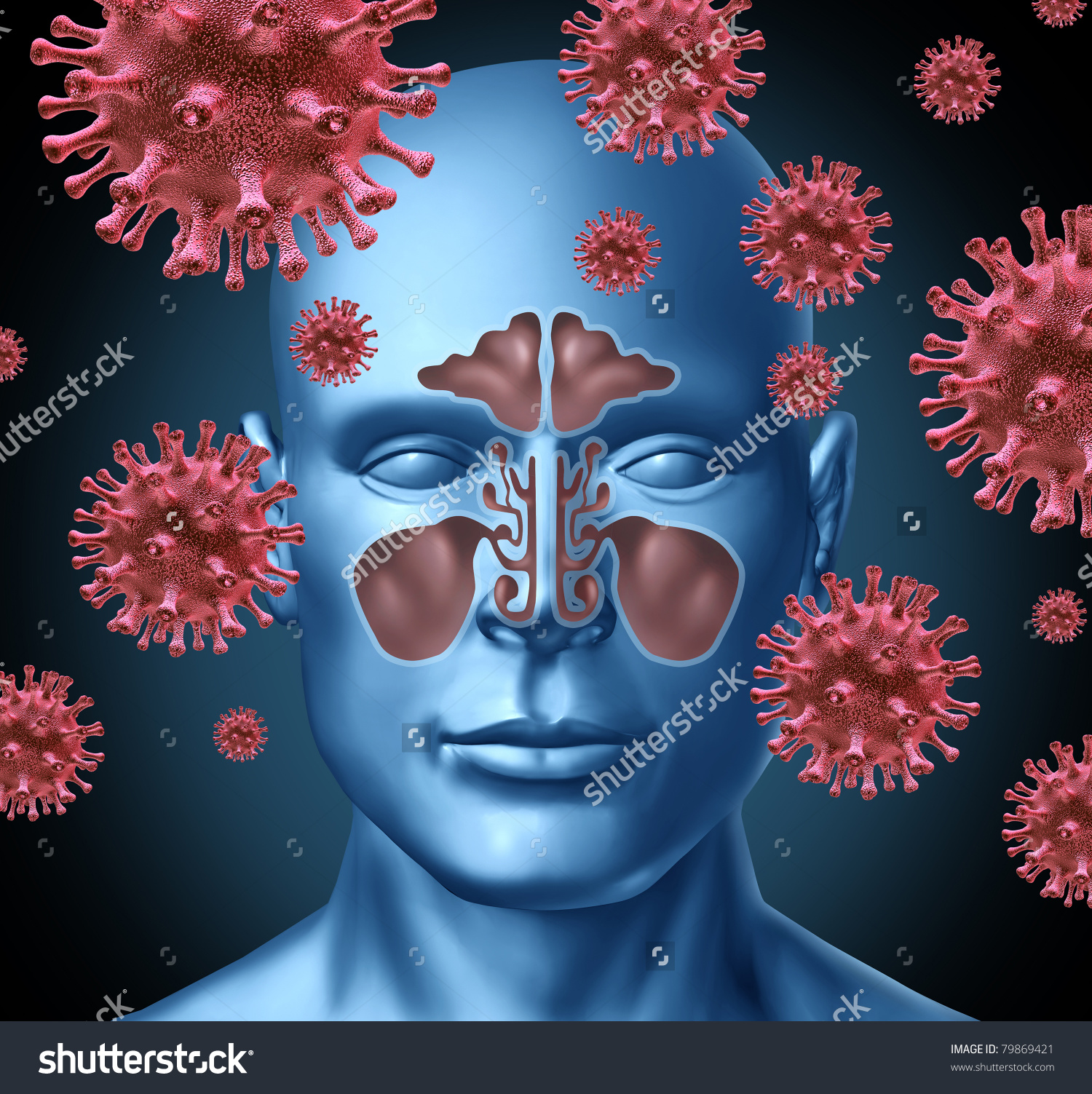 Cold Virus Infection Medical Symbol Represented Stock Illustration.