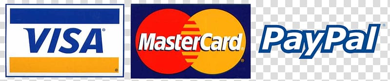 Visa MasterCard and Paypal logos, Payment Credit card Debit.