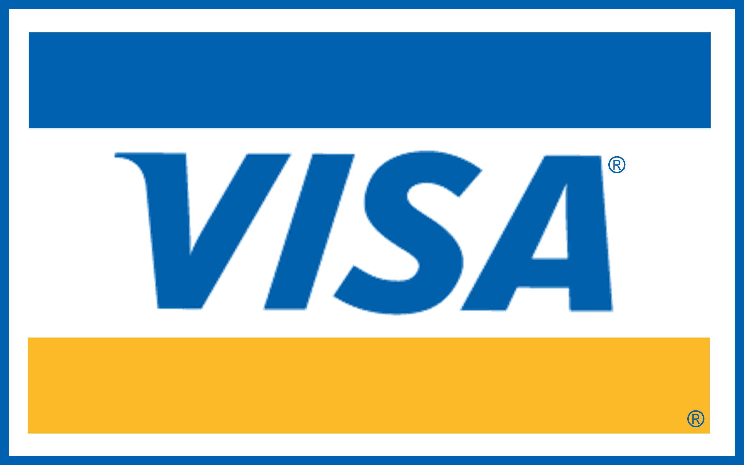 Visa card logo PNG images free download.