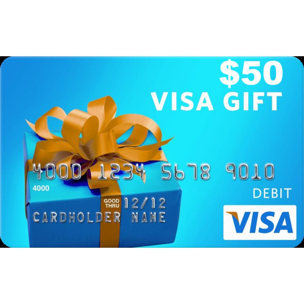 USD50 VISA GIFT CARD (US).