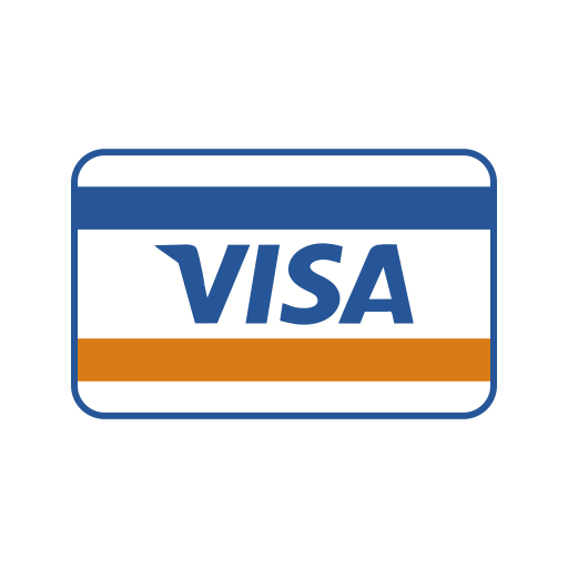 Online payment, online transaction, payment method, visa icon.
