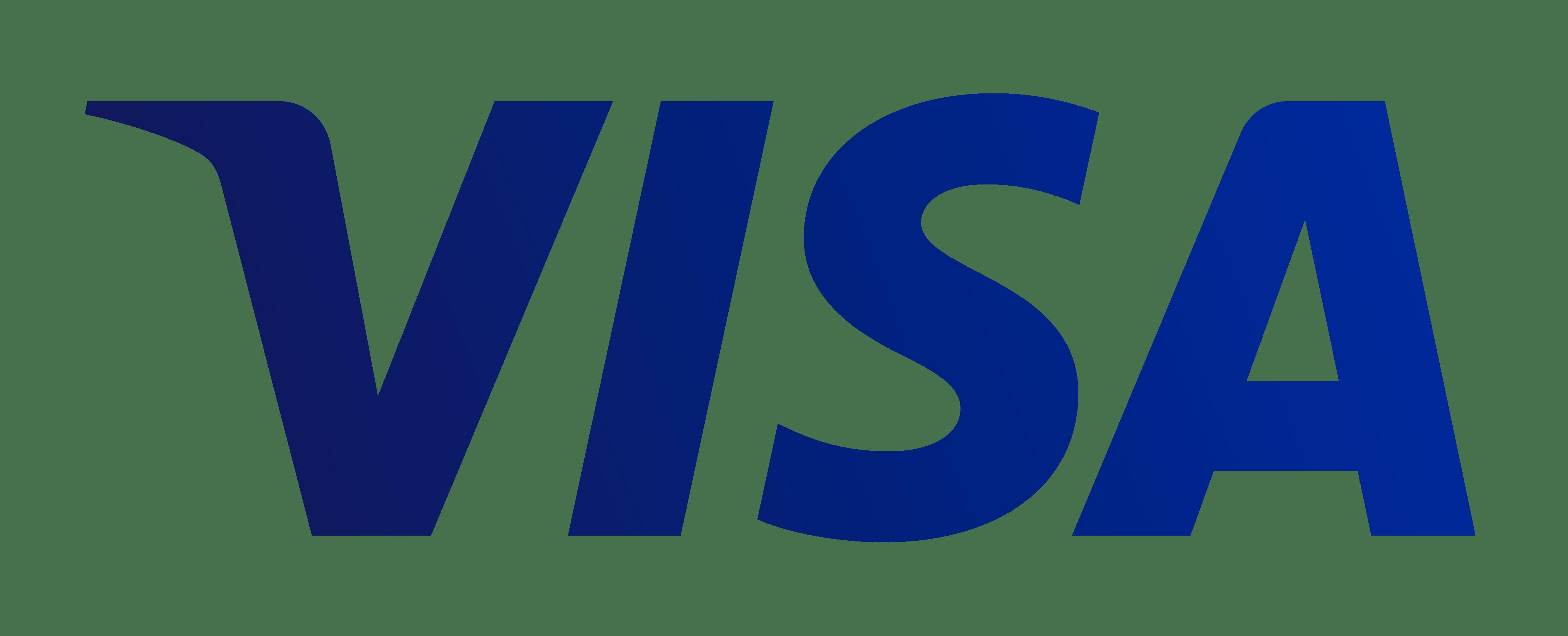 Visa Logo transparent PNG.