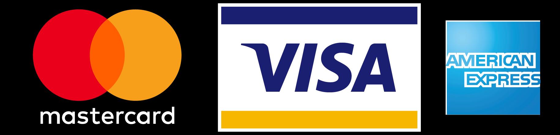 American Express Visa MasterCard Logo.