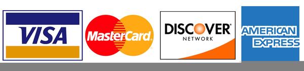 Visa Mastercard Discover Clipart.