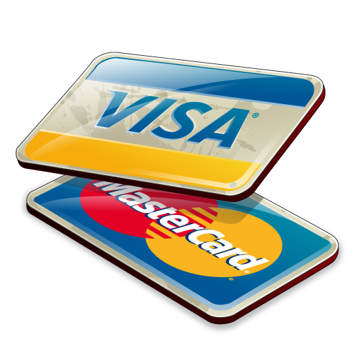 Credit cards, visa, mastercard icon png #4404.