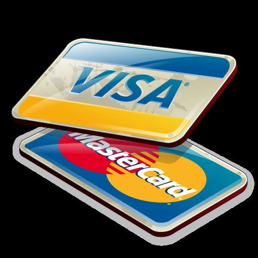 Credit cards, visa, mastercard icon png #4404.