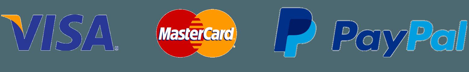 PayPal Visa MasterCard Logo.