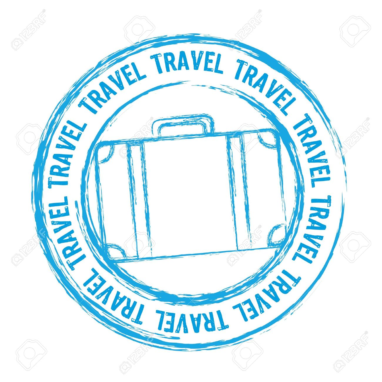Travel Stamps Clipart.