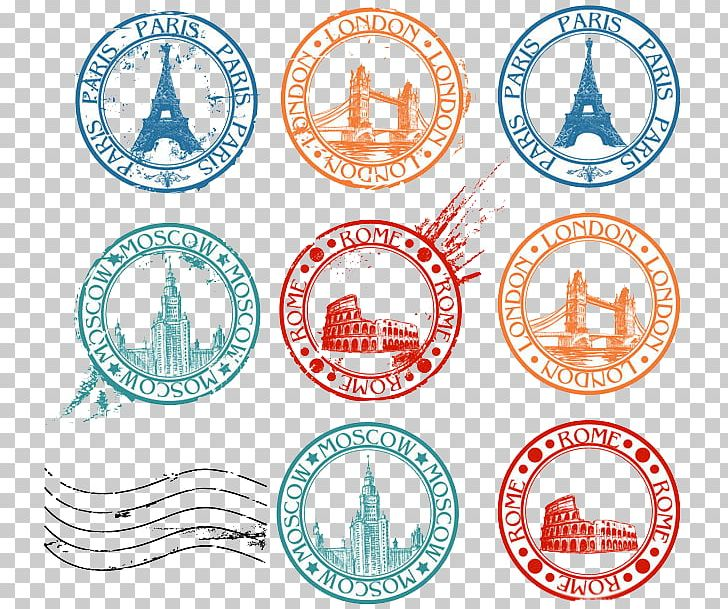 Postage Stamp Travel Visa PNG, Clipart, Area, Around The World, Circ.