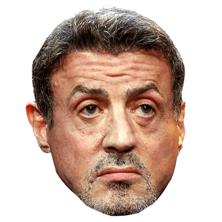 Sylvester Stallone Visage PNG transparents.