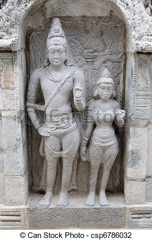 Stock Photo of An ancient vishnu temple in utharamerur tamilnadu.