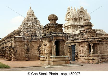 Picture of Temple of God Vishnu in Kanchipuram (India) csp1459097.