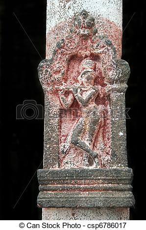 Picture of An ancient vishnu temple in utharamerur tamilnadu.