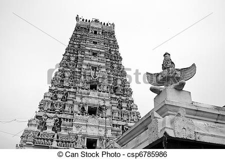 Stock Photography of An ancient vishnu temple in utharamerur.