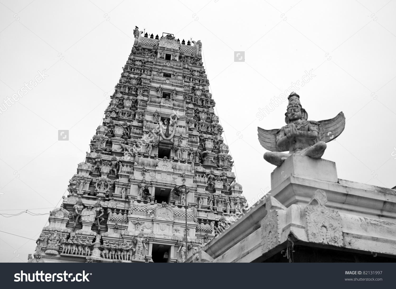 An Ancient Vishnu Temple In Utharamerur Tamilnadu Stock Photo.