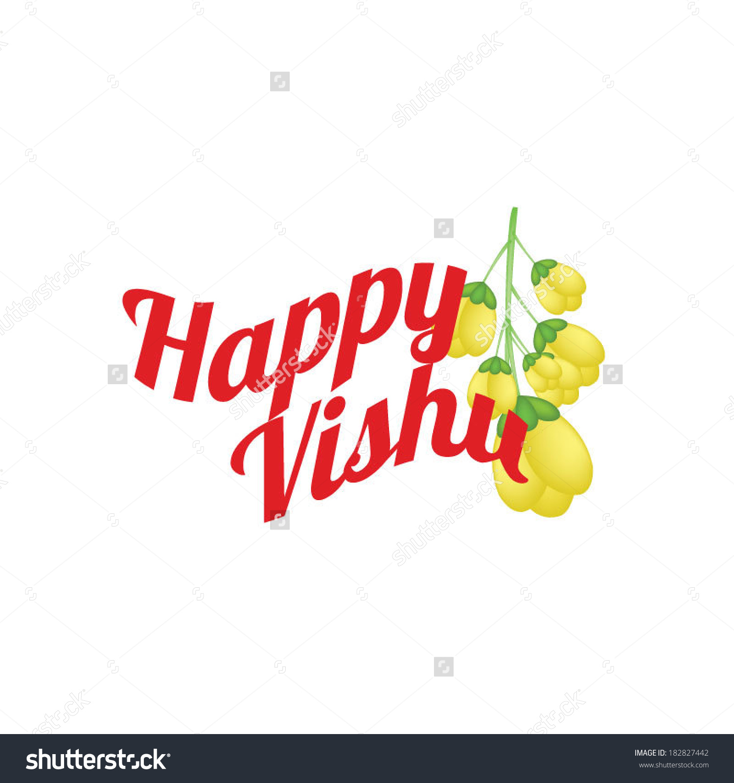 Happy Vishu Indian Festival Stock Vector 182827442.