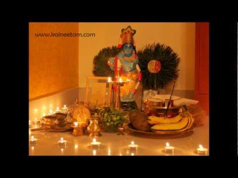 Arrange Vishu Kani Items.