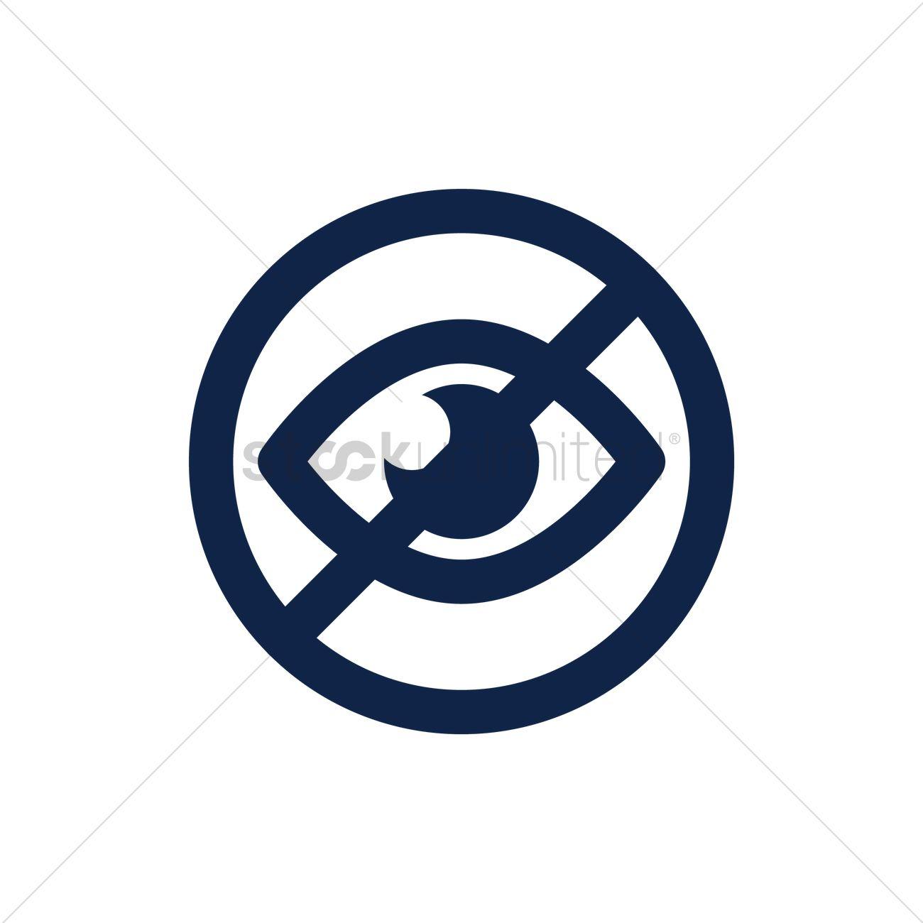No visibility icon Vector Image.