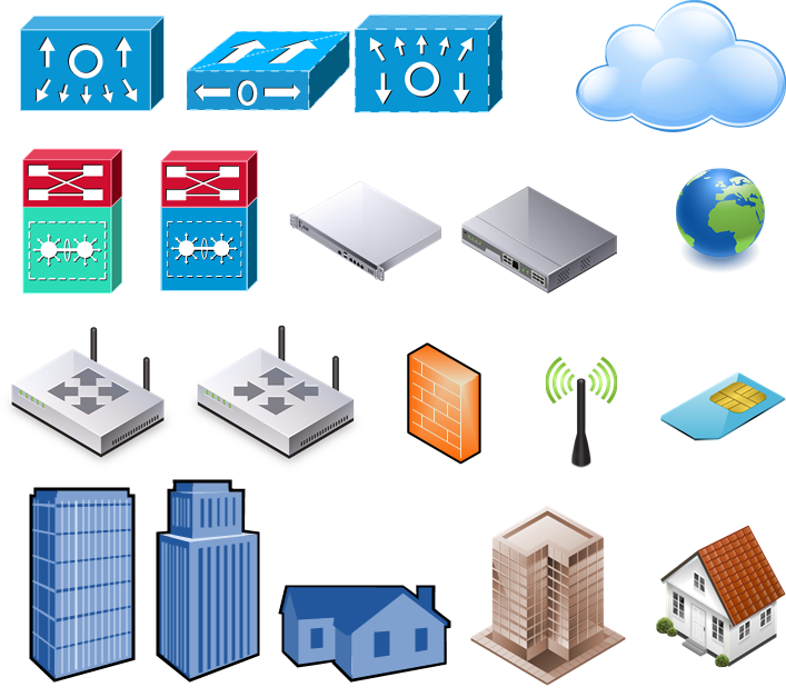 Free Powerpoint Network Shapes, Download Free Clip Art, Free.