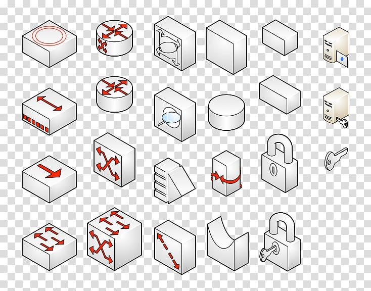 Microsoft Visio Computer network diagram Stencil, double.