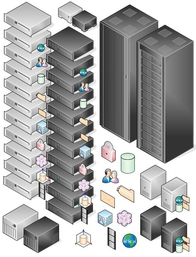 Awesome Libreoffice Network diagram icons.