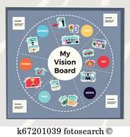 Vision Board Clipart Vectors.