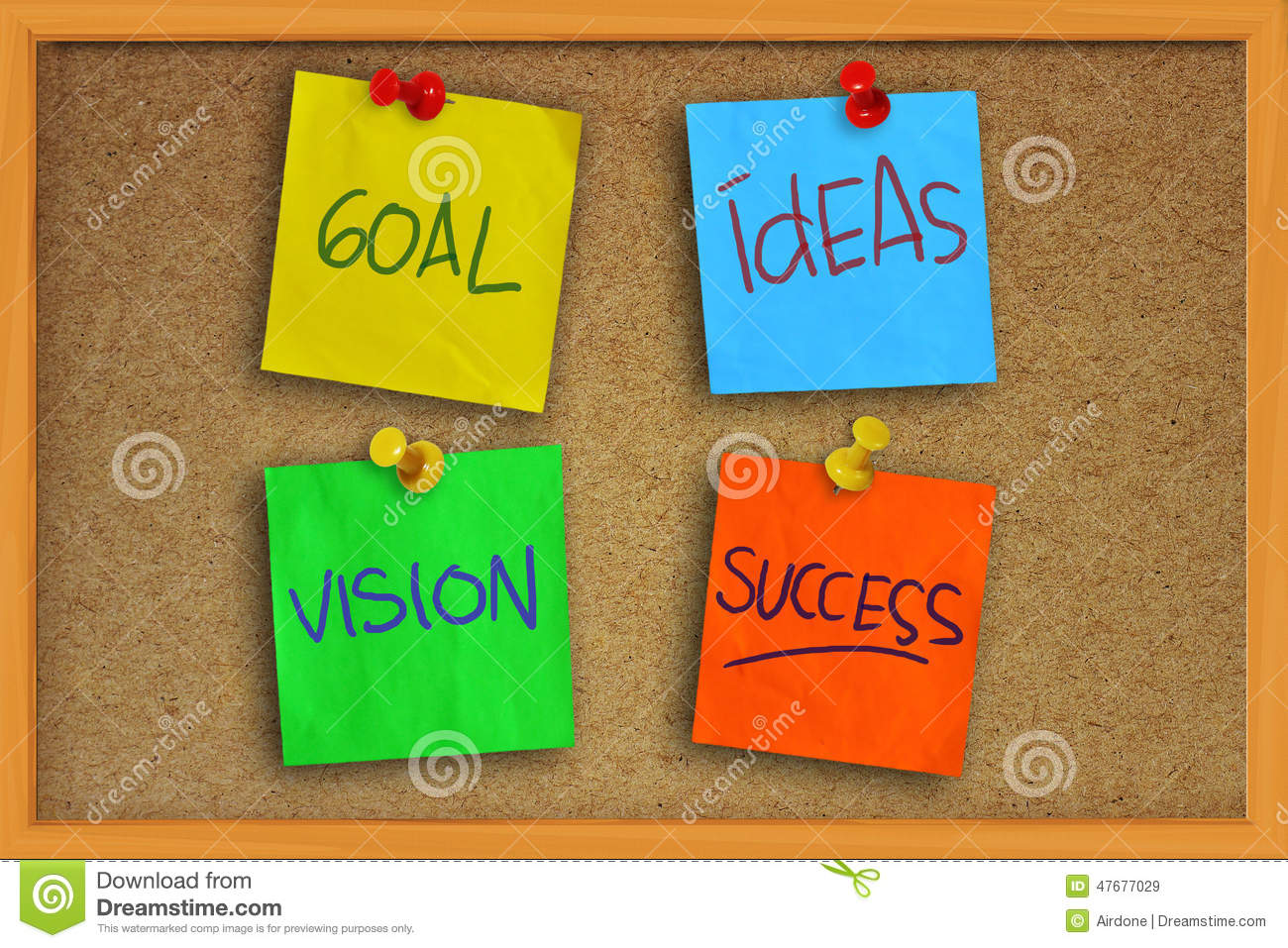 Goal, Ideas, Vision And Success Stock Image.