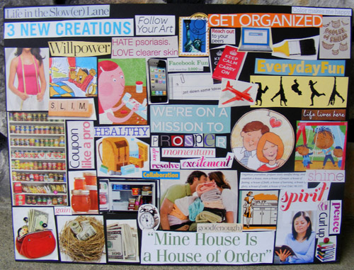 Creating a Vision Board with Kids.