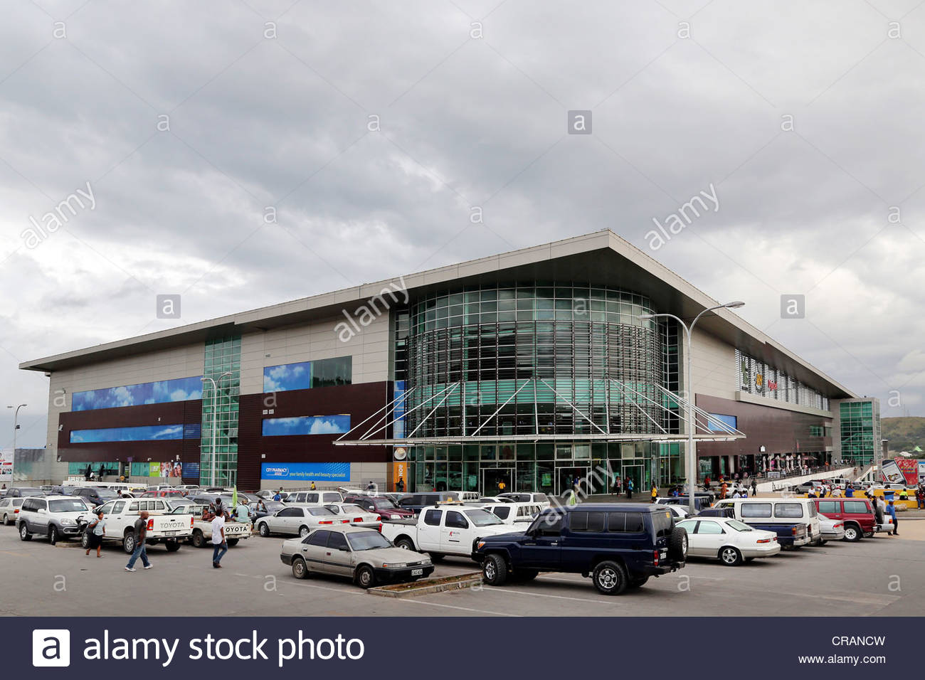 shopping mall Vision City in Port Moresby, Papua New Guinea Stock.