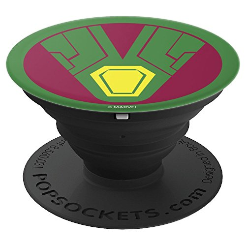 Marvel Vision Classic Logo PopSockets Grip and Stand for Phones and Tablets.
