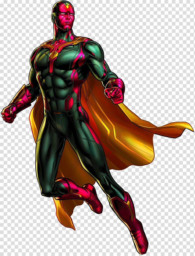 Marvel Vision illustration, Vision Marvel: Avengers Alliance.
