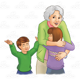 Grandma clipart visit, Grandma visit Transparent FREE for.