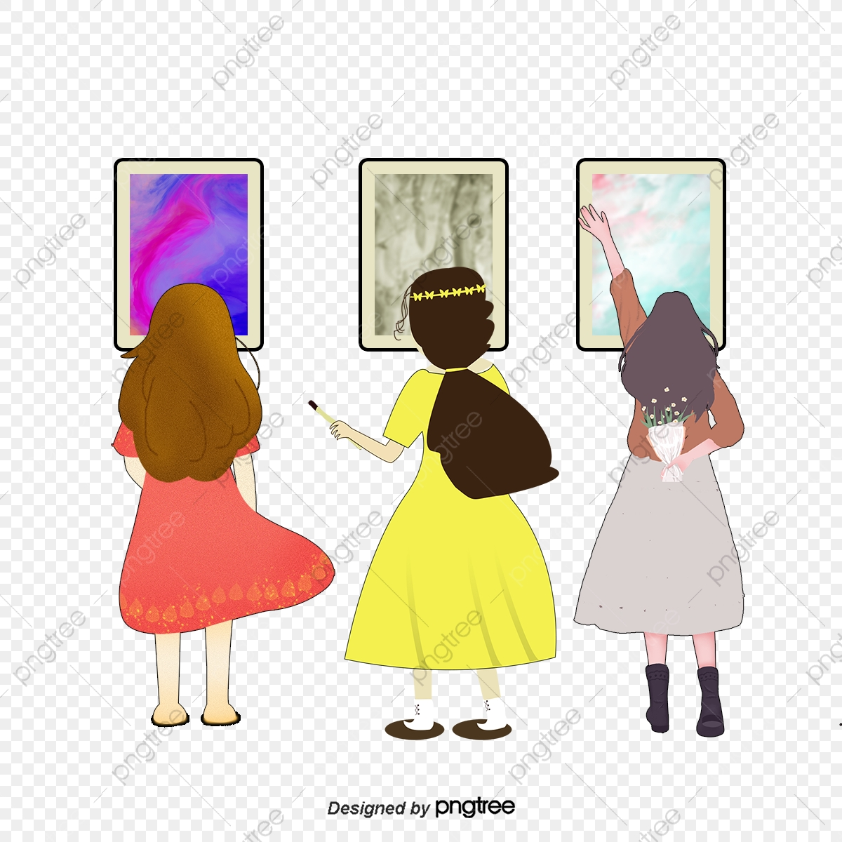 Visit The Exhibition, Vector, Art Exhibition, Frame PNG and Vector.
