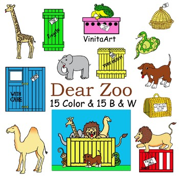 Dear Zoo Clip Art, Clip art, story book illustrations by.