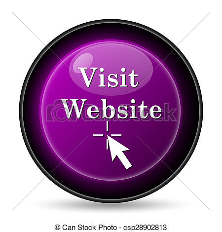 Clipart of Visit website icon. Internet button on white background.