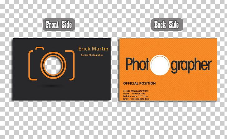 Business Card Design Logo Visiting Card Business Cards Photography.