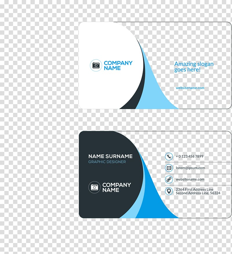 Business card Visiting card Flat design, Business cards, two Company.