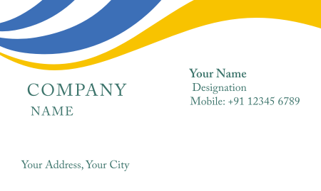 Visiting card design models yellow download.