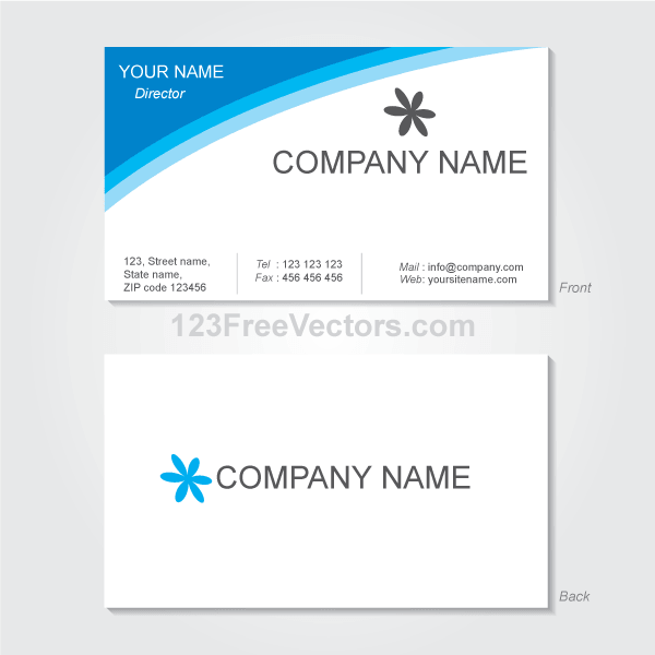 Free Vector Visiting Card Design Template PSD files, vectors.