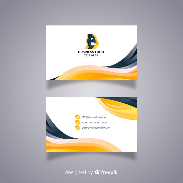 Free Modern business card with abstract design SVG DXF EPS PNG.