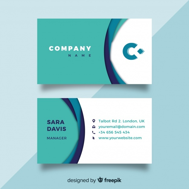 Free Modern business card template SVG DXF EPS PNG.