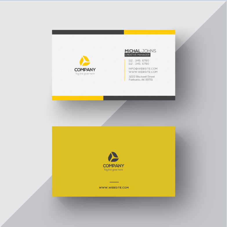 Free Business Visiting Card Design Template Download.