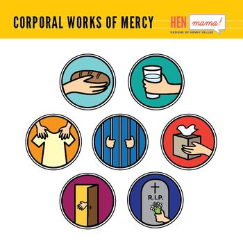 Corporal Works of Mercy Clip Arts.