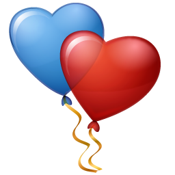 Balloons Hearts Icon.
