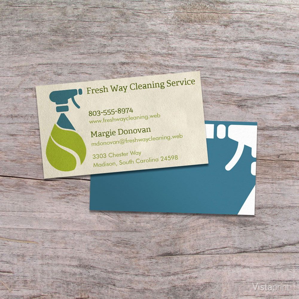 Light Brown Cleaner Business Cards.