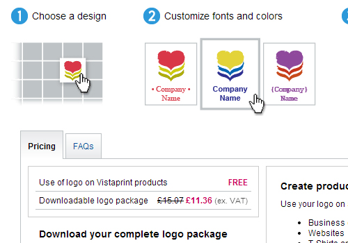 Vistaprint free logo design trick or treat?.