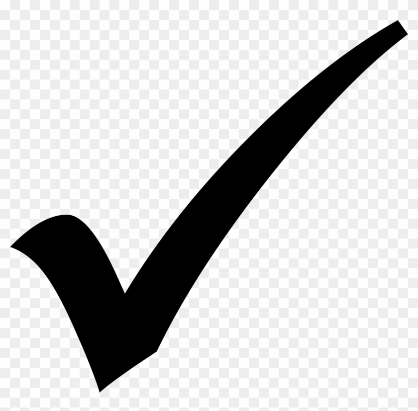 Check Mark Black Icon , Png Download.
